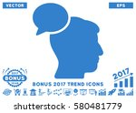 cobalt person idea pictograph... | Shutterstock .eps vector #580481779