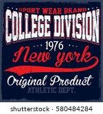 athletic dept. new york ... | Shutterstock .eps vector #580484284