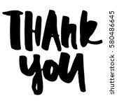 thank you card. modern... | Shutterstock .eps vector #580486645