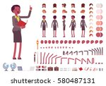 female teacher character... | Shutterstock .eps vector #580487131
