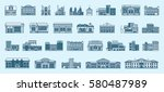 vector set isolated icons... | Shutterstock .eps vector #580487989