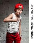 portrait of cool young hip hop...   Shutterstock . vector #580489519