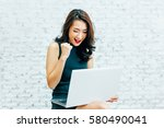 young asian business working... | Shutterstock . vector #580490041
