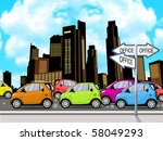 peak hour traffic lined up... | Shutterstock . vector #58049293