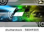 digital illustration of video... | Shutterstock . vector #58049305