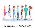 group medial doctors team... | Shutterstock .eps vector #580496635