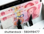 banknotes of china with a... | Shutterstock . vector #580498477