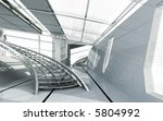 modern architecture 3d render - stock photo