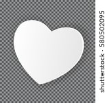 happy valentines day card with... | Shutterstock . vector #580502095