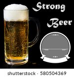 beer logo on a black background ... | Shutterstock . vector #580504369