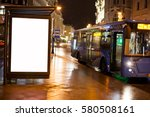Blank Advertising Light Box On...