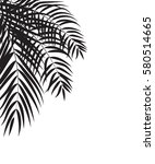 beautifil palm tree leaf ...   Shutterstock .eps vector #580514665