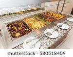 food buffet self service lunch... | Shutterstock . vector #580518409