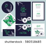 set of templates  for wedding... | Shutterstock .eps vector #580518685