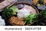 delicious vietnamese food  bun... | Shutterstock . vector #580519789