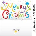 christmas card   Shutterstock .eps vector #58052020
