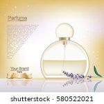 lavender perfume bottle... | Shutterstock .eps vector #580522021