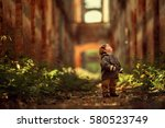 the boy looks up | Shutterstock . vector #580523749