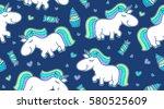 vector baby seamless pattern...   Shutterstock .eps vector #580525609