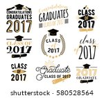 graduation wishes overlays ... | Shutterstock .eps vector #580528564