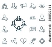 set of 16 communication icons.... | Shutterstock . vector #580533361
