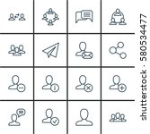 set of 16 social icons.... | Shutterstock . vector #580534477