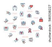 charity  sponsorship donation... | Shutterstock .eps vector #580538227
