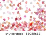 hearts of different colors... | Shutterstock . vector #58055683