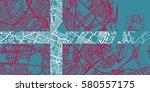 detailed vector map of... | Shutterstock .eps vector #580557175
