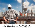 work safety officer or civil... | Shutterstock . vector #580561351
