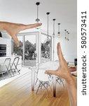 planned renovation of a open...   Shutterstock . vector #580573411