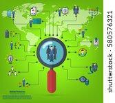human resources   conceptual... | Shutterstock .eps vector #580576321