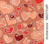 vector ornament  valentines day ... | Shutterstock .eps vector #580579189