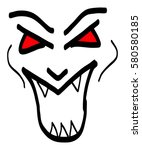 scary mask vector | Shutterstock .eps vector #580580185