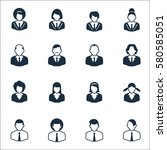 management icons   black series ... | Shutterstock .eps vector #580585051