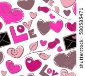 vector valentine day design.... | Shutterstock .eps vector #580585471