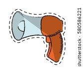 cartoon megaphone loudspeaker... | Shutterstock .eps vector #580586221