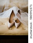bride's high heeled shoes and... | Shutterstock . vector #580592371