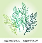 hand drawn illustration with... | Shutterstock .eps vector #580594669