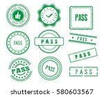 set of various pass stamps | Shutterstock .eps vector #580603567