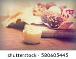 selection of delicious... | Shutterstock . vector #580605445