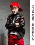 portrait of cool young hip hop...   Shutterstock . vector #580610191