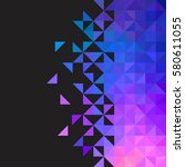 background of geometric shapes. ... | Shutterstock .eps vector #580611055
