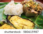 chiang mai local cuisine  the... | Shutterstock . vector #580615987