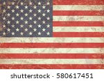 grunge usa flag texture | Shutterstock . vector #580617451