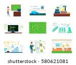 mathematics conceptual... | Shutterstock .eps vector #580621081