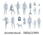 display window and tailor... | Shutterstock .eps vector #580621984