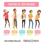 food poisoning signs and... | Shutterstock .eps vector #580622464