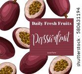 hand drawn fruit illustration.... | Shutterstock .eps vector #580631194