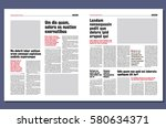 Graphical design newspaper template | Shutterstock vector #580634371